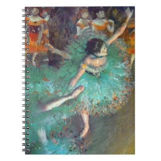 Edgar Degas - The Green Dancers - Ballet Dance Spiral Notebook