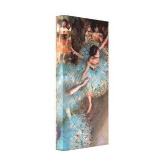 Edgar Degas - The Greens dancers Canvas Print