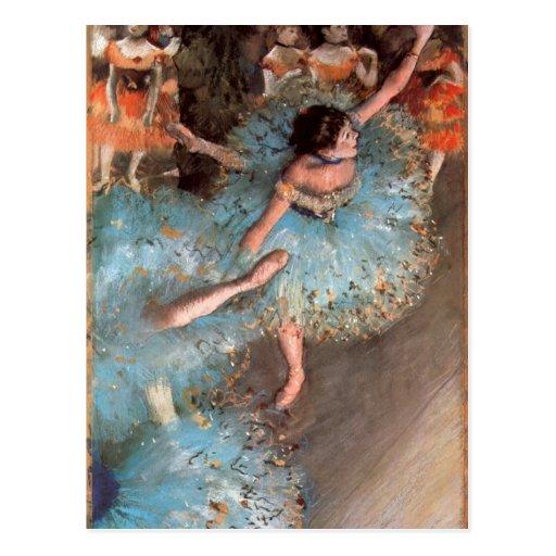 Edgar Degas - The Greens dancers Post Card