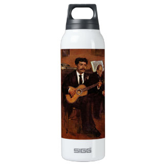 Edgar Degas - The guitarist Pagans and Monsieur De 16 Oz Insulated SIGG Thermos Water Bottle