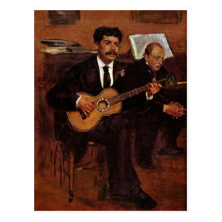 Edgar Degas - The guitarist Pagans and Monsieur De Postcard