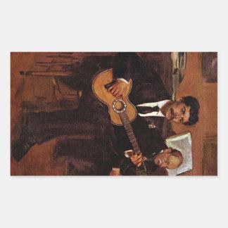 Edgar Degas - The guitarist Pagans and Monsieur De Sticker