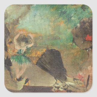 Edgar Degas | The Loge, c.1883 Square Sticker