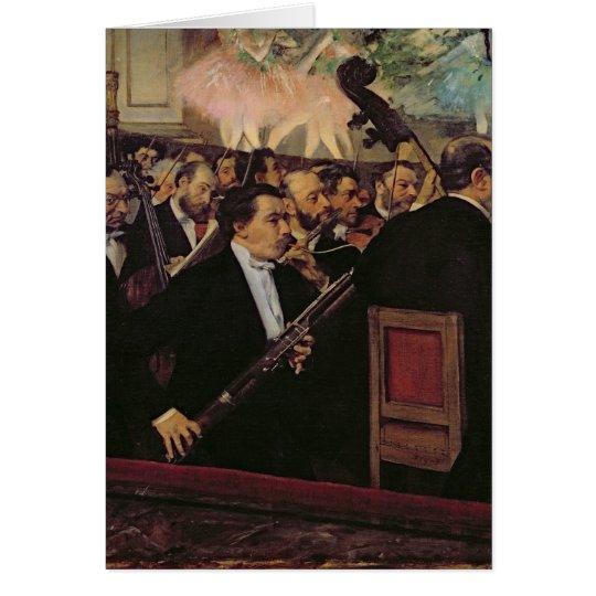 Edgar Degas | The Opera Orchestra, c.1870 Card