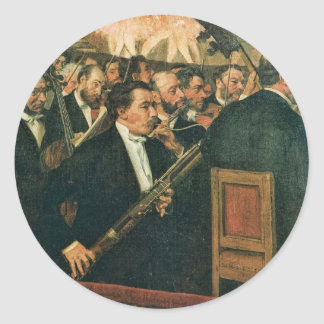 Edgar Degas The Orchestra of the Opera Classic Round Sticker