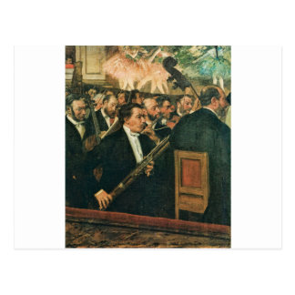 Edgar Degas The Orchestra of the Opera Postcard