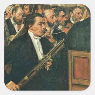 Edgar Degas The Orchestra of the Opera Square Sticker