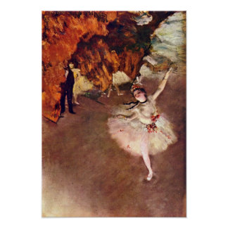 Edgar Degas - The prima ballerina (Rosita Mauri) Poster