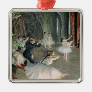 Edgar Degas | The Rehearsal of the Ballet on Stage Metal Ornament