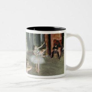 Edgar Degas   The Rehearsal of the Ballet on Stage Two-Tone Coffee Mug
