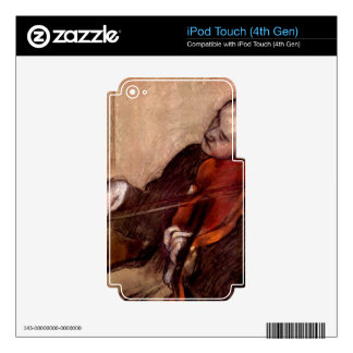 Edgar Degas - The violinist Decal For iPod Touch 4G