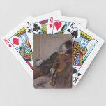 Edgar Degas: The Violist Playing Cards