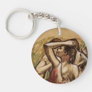 Edgar Degas: Three Ballet Dancers Key Chain