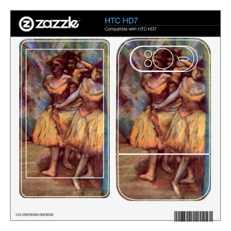 Edgar Degas - Three dancers behind the scenes Decal For The HTC HD7