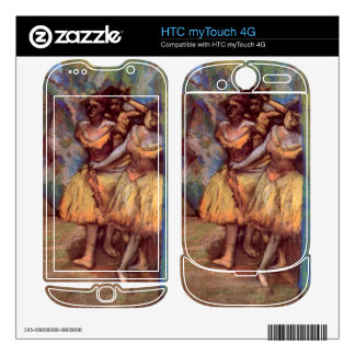 Edgar Degas - Three dancers behind the scenes HTC myTouch 4G Decals