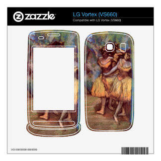 Edgar Degas - Three dancers behind the scenes Decals For LG Vortex