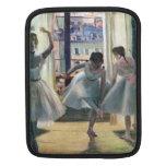 Edgar Degas - Three dancers in a practice room iPad Sleeves