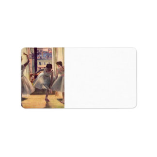 Edgar Degas - Three dancers in a practice room Personalized Address Labels