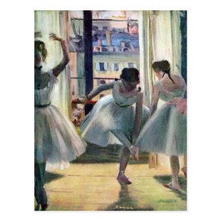 Edgar Degas - Three dancers in a practice room Post Cards