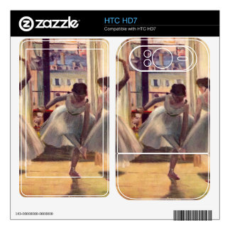 Edgar Degas - Three dancers in a practice room Decal For HTC HD7