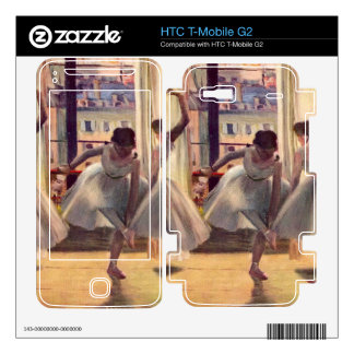 Edgar Degas - Three dancers in a practice room Decal For HTC T-Mobile G2