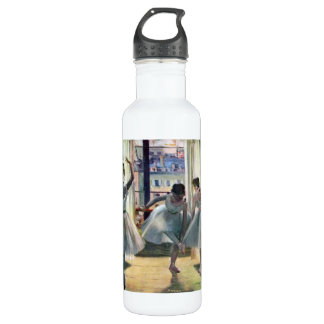 Edgar Degas - Three dancers in a practice room Water Bottle