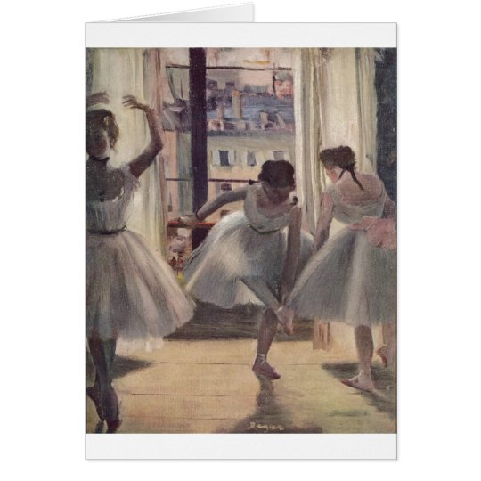 Edgar Degas - Three Dancers in Practice Room 1873 Card