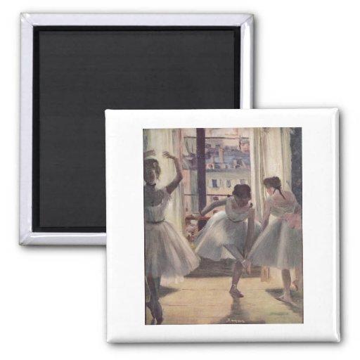 Edgar Degas - Three Dancers in Practice Room 1873 Fridge Magnet