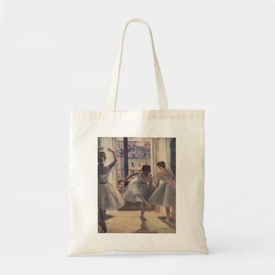 Edgar Degas - Three Dancers in Practice Room 1873 Tote Bag