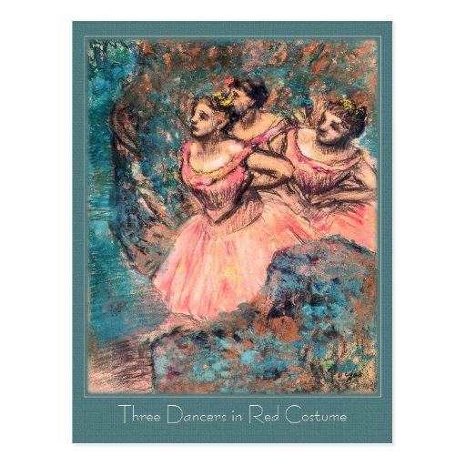 Edgar Degas Three Dancers in Red Costume CC0389