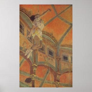 Edgar Degas - trapecio 1879 de ms Lala Circus Fern Poster