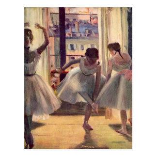 Edgar Degas - tres bailarines en un cuarto de la p Tarjetas Postales