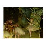 Edgar Degas - tutú 1875 de los chicas de la danza  Tarjetas Postales