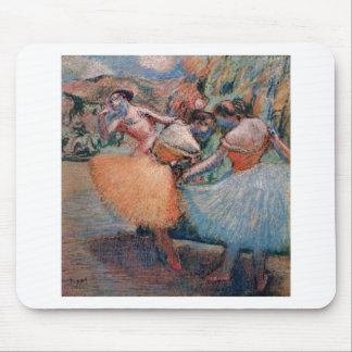 Edgar Degas - tutú 1898 de tres de los bailarines  Tapete De Raton