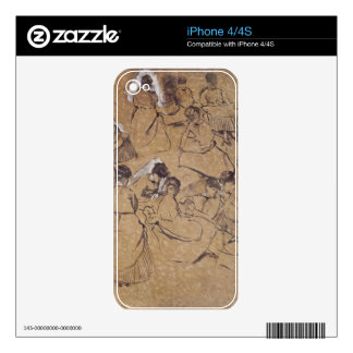 Edgar Degas | Twelve studies of women in costume Decals For The iPhone 4