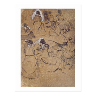Edgar Degas | Twelve studies of women in costume Postcard