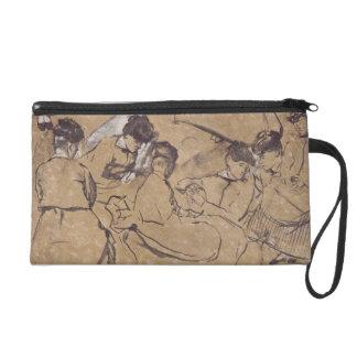 Edgar Degas   Twelve studies of women in costume Wristlet Purse