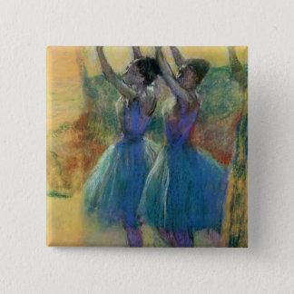 Edgar Degas | Two Blue Dancers Button