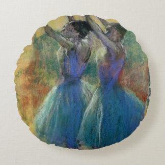 Edgar Degas | Two Blue Dancers Round Pillow
