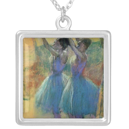 Edgar Degas | Two Blue Dancers Silver Plated Necklace