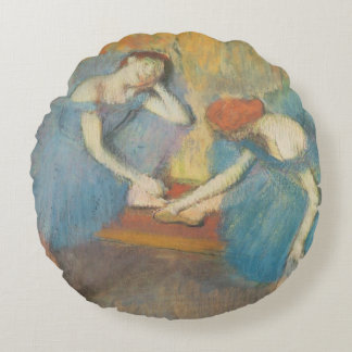 Edgar Degas | Two Dancers at Rest, Dancers in Blue Round Pillow