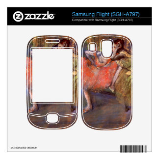 Edgar Degas - Two dancers behind the scenes Decals For Samsung Flight