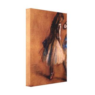 Edgar Degas - Two dancers Canvas Print