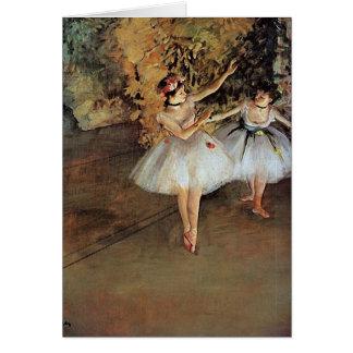 Edgar Degas - Two Dancers Greeting Card