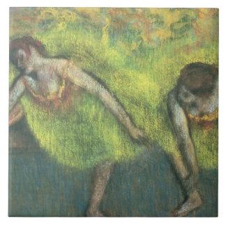 Edgar Degas | Two dancers relaxing Ceramic Tile