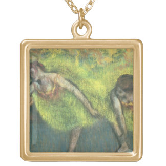 Edgar Degas | Two dancers relaxing Gold Plated Necklace