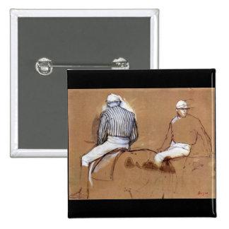 Edgar Degas - Two jockeys Pinback Buttons