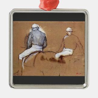 Edgar Degas - Two jockeys Christmas Ornament