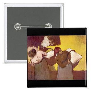 Edgar Degas - Two washer women Button