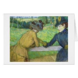 Edgar Degas | Two women leaning on a gate Card